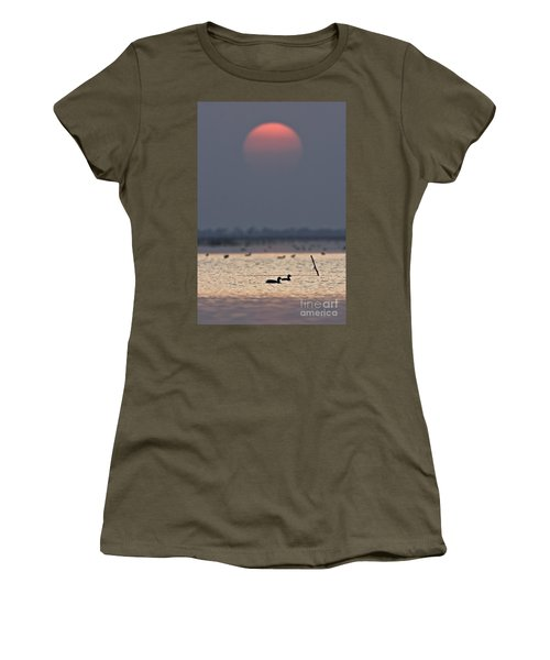 Sunset With Coots Women's T-Shirt
