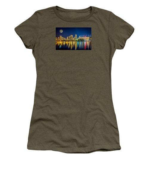 Super Moon Over Vancouver  Women's T-Shirt (Junior Cut) by Sabine Edrissi