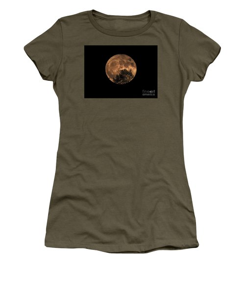 Supermoon Rising Women's T-Shirt (Athletic Fit)