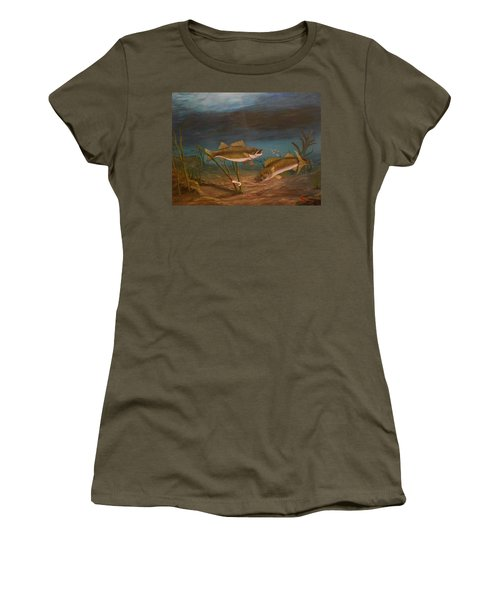 Supper Time Women's T-Shirt (Junior Cut) by Sheri Keith