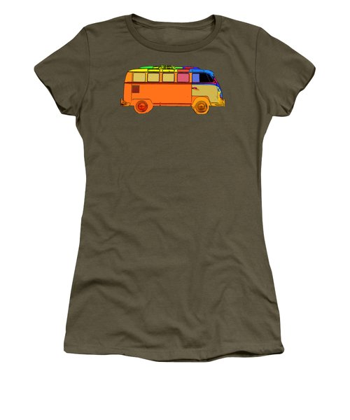 Women's T-Shirt featuring the photograph Surfer Van Transparent by Edward Fielding