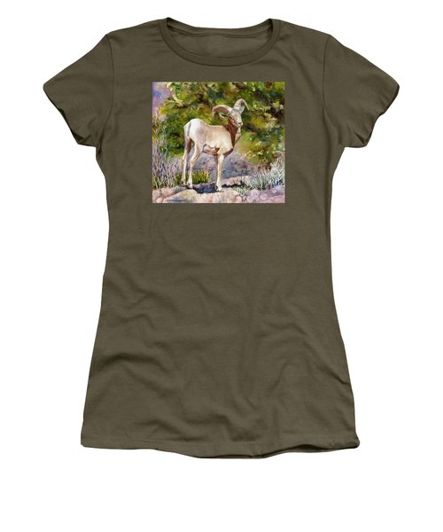 Surprised On The Trail Women's T-Shirt (Junior Cut) by Anne Gifford