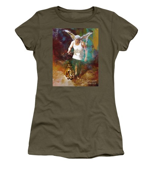 Women's T-Shirt (Junior Cut) featuring the painting Surreal Art  by Gull G
