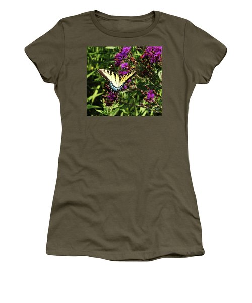 Women's T-Shirt (Junior Cut) featuring the photograph Swallowtail On Butterfly Weed by J L Zarek
