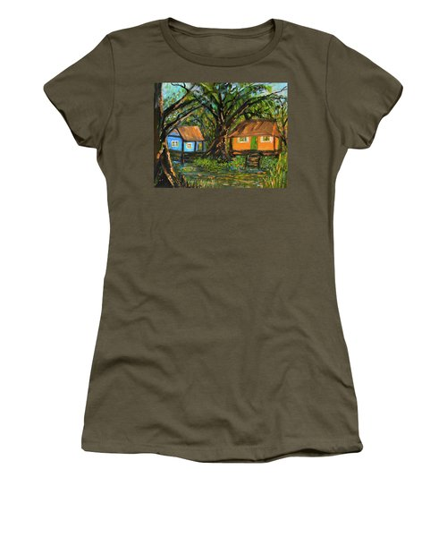 Swamp Cabins Women's T-Shirt (Junior Cut) by Christy Usilton