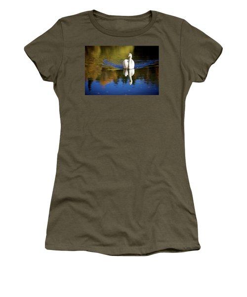 Swan In Color Women's T-Shirt (Junior Cut) by Teemu Tretjakov
