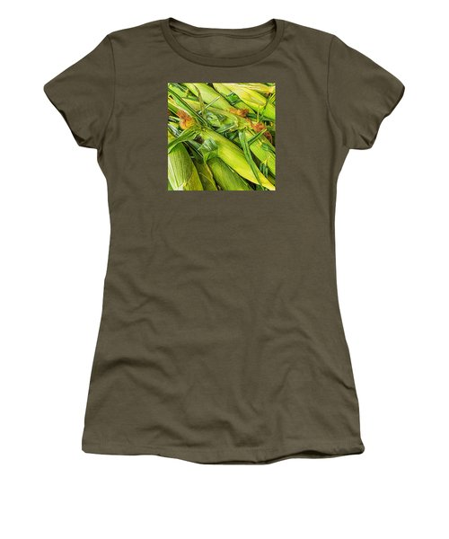 Sweet Corn Women's T-Shirt (Junior Cut) by Lewis Mann