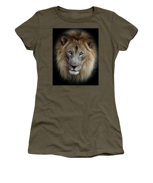 Sweet Male Lion Portrait Women's T-Shirt