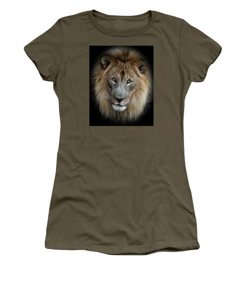 Sweet Male Lion Women's T-Shirt (Athletic Fit)
