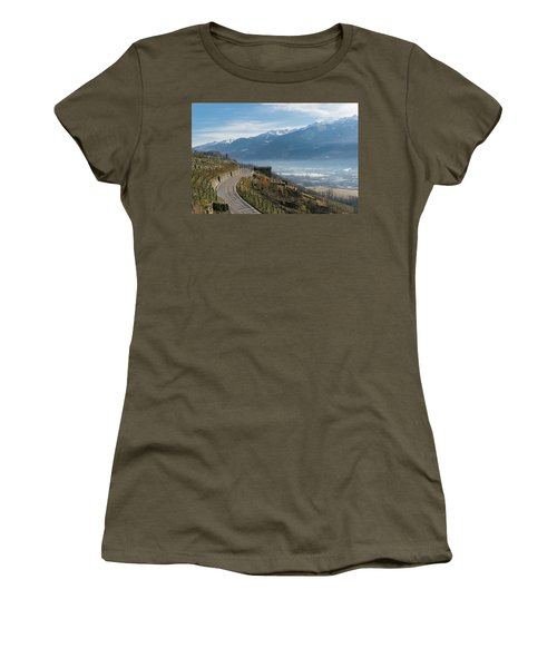 Swerving Road In Valtellina, Italy Women's T-Shirt