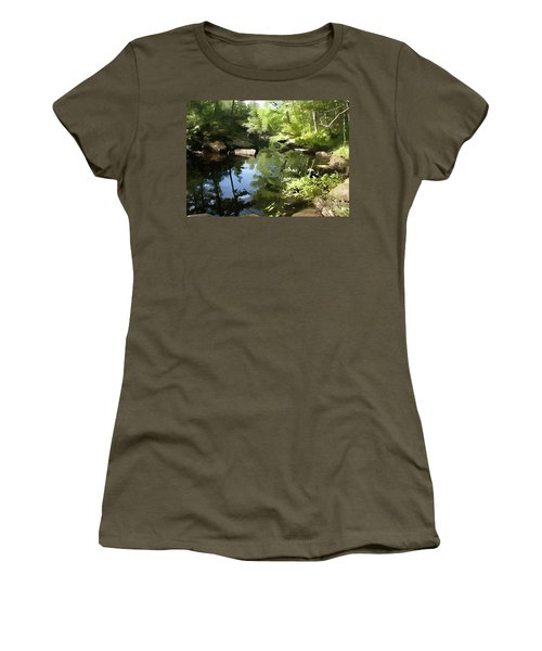 Swimmin' Hole Women's T-Shirt (Athletic Fit)