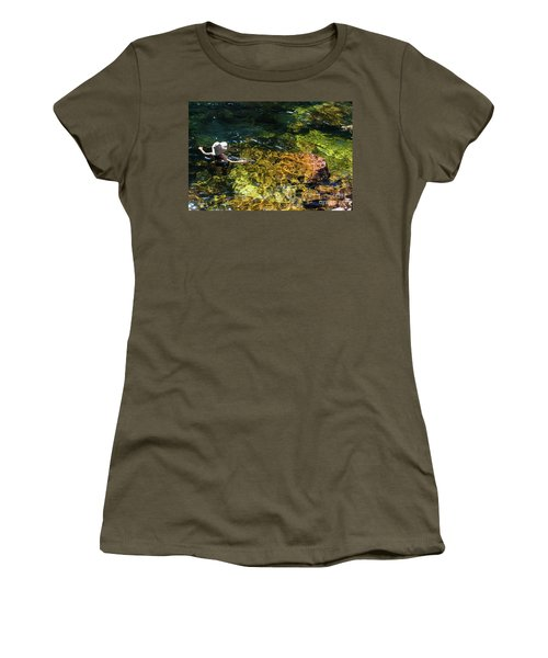 swimming in the Buley Rockhole waterfalls Women's T-Shirt (Athletic Fit)