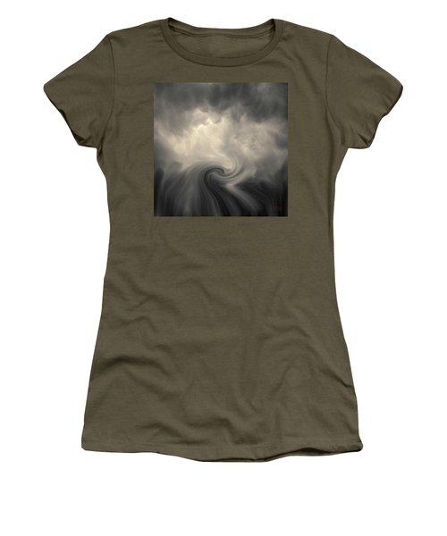 Women's T-Shirt featuring the photograph Swirl Wave Vi Toned by David Gordon