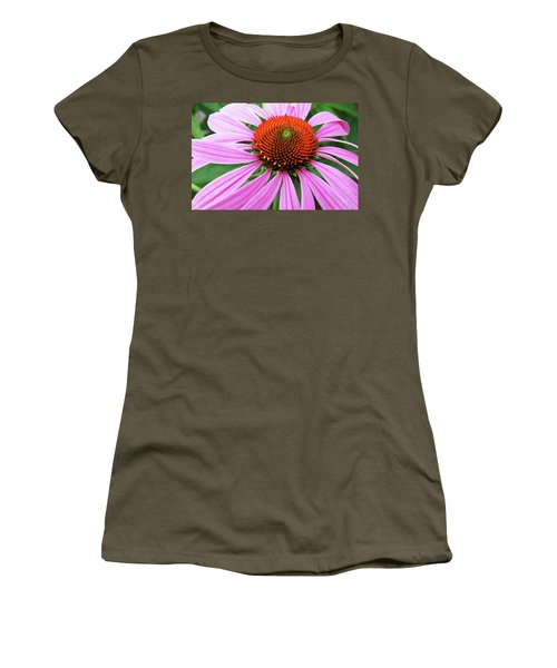 Swirling Purple Cone Flower 3576 H_2 Women's T-Shirt (Athletic Fit)