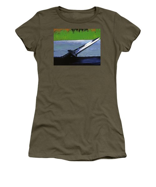 Sword Of Protection  Women's T-Shirt (Athletic Fit)