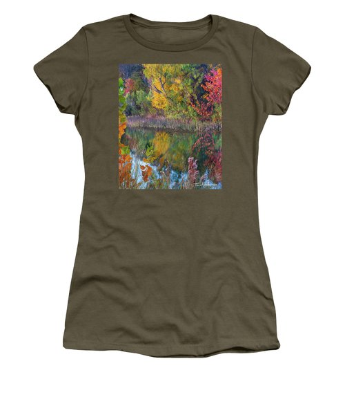 Sycamores And Willows Women's T-Shirt (Junior Cut) by Tim Fitzharris