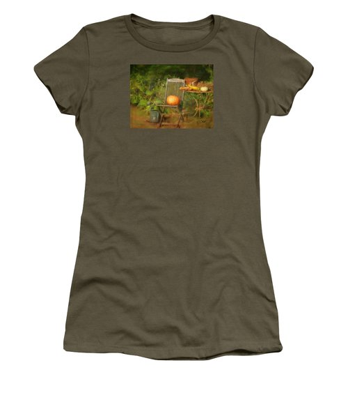 Table For One Women's T-Shirt (Junior Cut) by Colleen Taylor