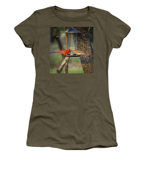 Women's T-Shirt (Junior Cut) featuring the photograph Table For Two by Debbie Karnes