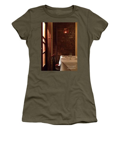 Table For Two Women's T-Shirt (Athletic Fit)
