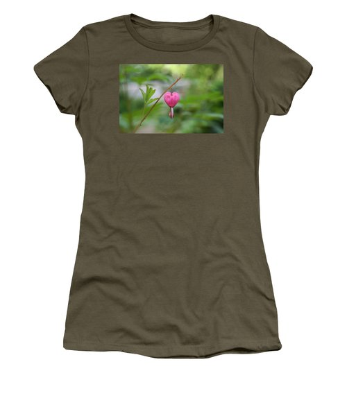 Women's T-Shirt (Junior Cut) featuring the digital art Take My Heart by Barbara S Nickerson
