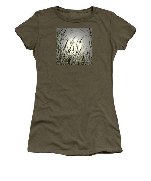 Women's T-Shirt (Junior Cut) featuring the digital art Tall Grass And Sunlight by James Williamson