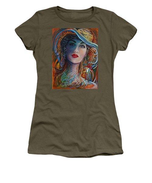 Tango Friends Women's T-Shirt (Junior Cut) by Jan VonBokel