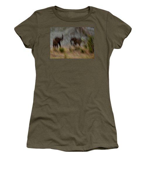 Tarangire Elephants 1 Women's T-Shirt (Athletic Fit)