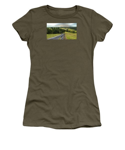 Women's T-Shirt (Junior Cut) featuring the photograph Taree West 01 by Kevin Chippindall