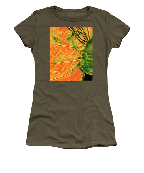 Taro Leaf In Orange - The Other Side Women's T-Shirt