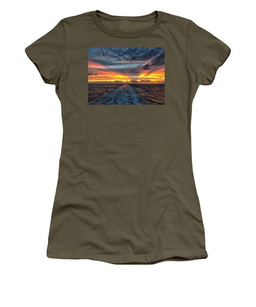 Tasman Sea Sunset Women's T-Shirt (Athletic Fit)