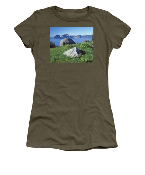 1m4862-tatoosh Range And Mt. St. Helens  Women's T-Shirt