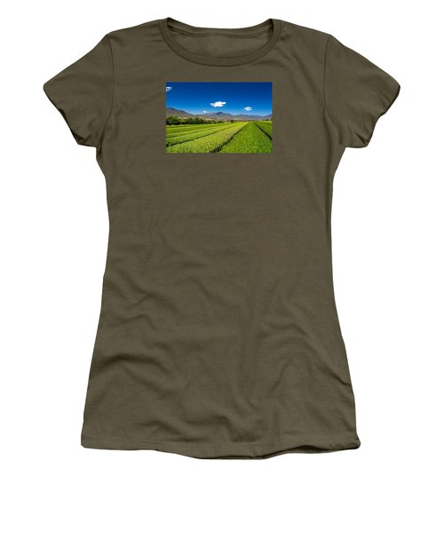 Tea In The Valley Women's T-Shirt (Junior Cut) by Mark Lucey