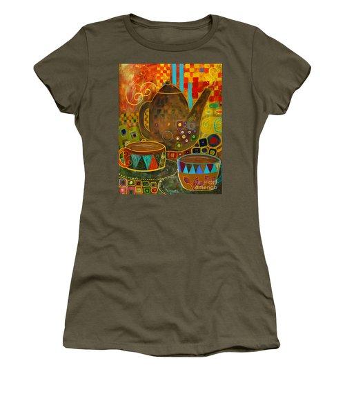 Tea Party With Klimt Women's T-Shirt
