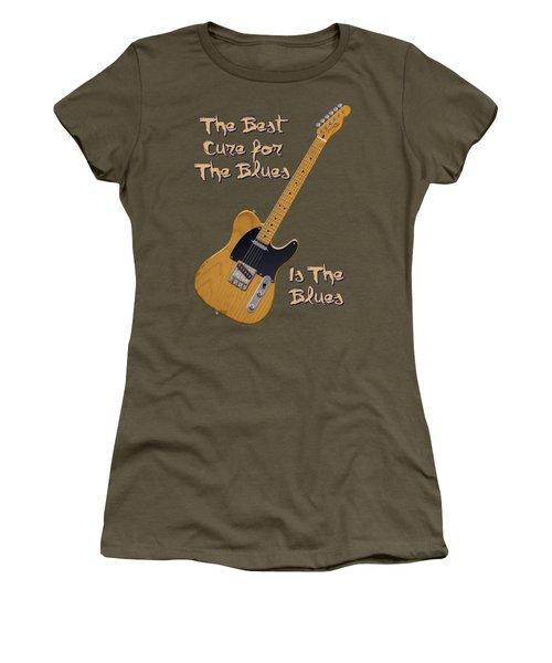 Tele Blues Cure Women's T-Shirt (Junior Cut) by WB Johnston