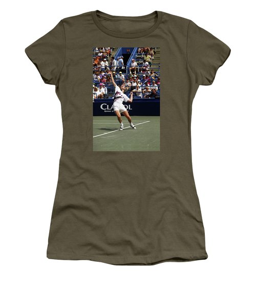 Tennis Serve Women's T-Shirt (Athletic Fit)