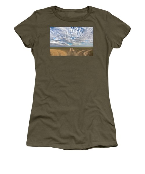 Women's T-Shirt (Athletic Fit) featuring the photograph Quo Vadis, Bayanzag, 2016 by Hitendra SINKAR