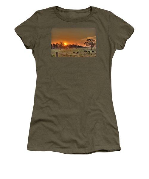 Texas Sunrise Women's T-Shirt (Athletic Fit)