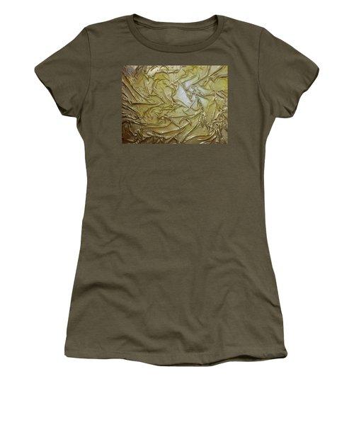 Women's T-Shirt (Junior Cut) featuring the mixed media Textured Light by Angela Stout