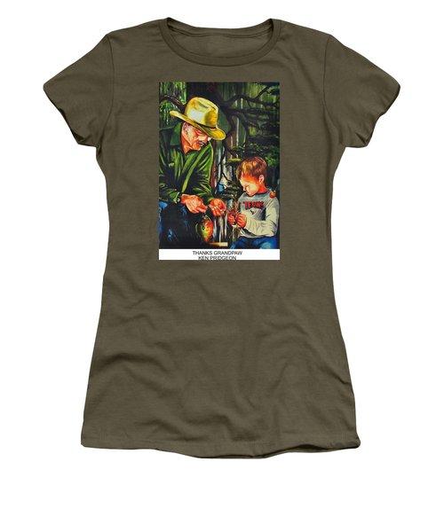 Thanks Grandpaw Women's T-Shirt (Junior Cut) by Ken Pridgeon