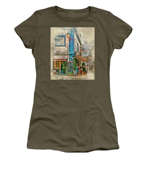 The Albar Coffee Shop In Alvor. Women's T-Shirt (Athletic Fit)