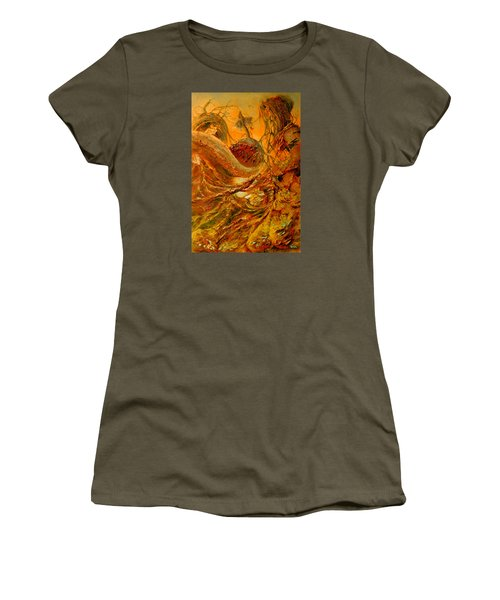 Women's T-Shirt (Junior Cut) featuring the painting The Alchemist by Henryk Gorecki
