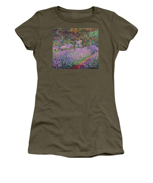 The Artists Garden At Giverny Women's T-Shirt (Athletic Fit)