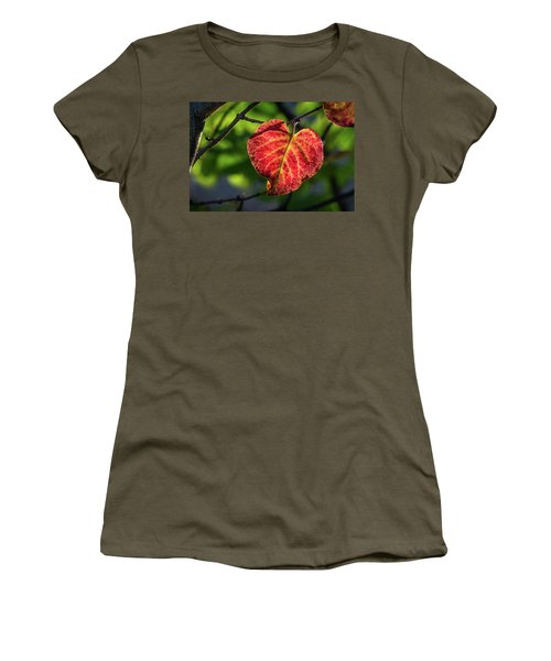 Women's T-Shirt (Athletic Fit) featuring the photograph The Autumn Heart by Bill Pevlor
