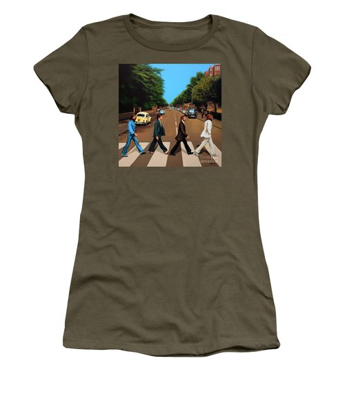 The Beatles Abbey Road Women's T-Shirt (Junior Cut) by Paul Meijering