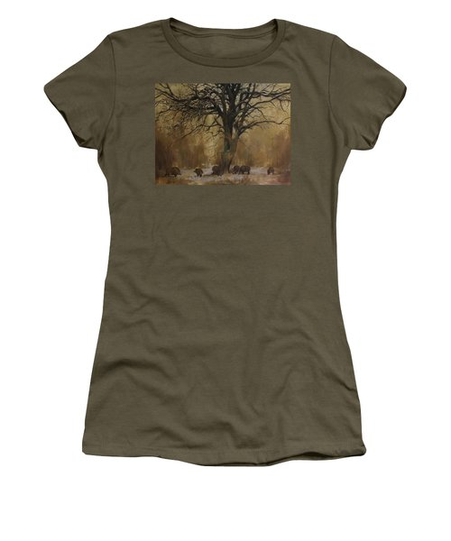 The Big Tree With Wild Boars Women's T-Shirt