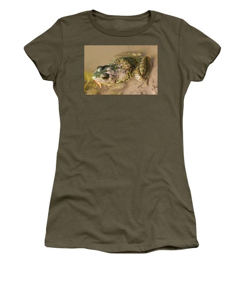 The Camouflage Frog Women's T-Shirt (Athletic Fit)
