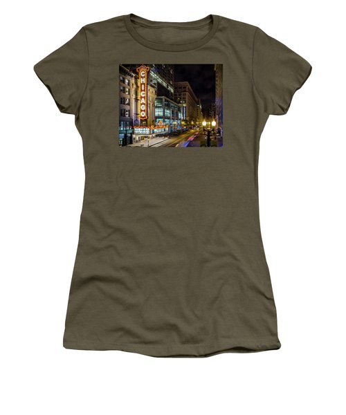 Illinois - The Chicago Theater Women's T-Shirt (Athletic Fit)