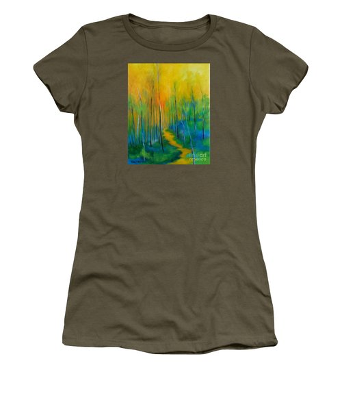 Women's T-Shirt (Junior Cut) featuring the painting The Chosen Path  by Alison Caltrider