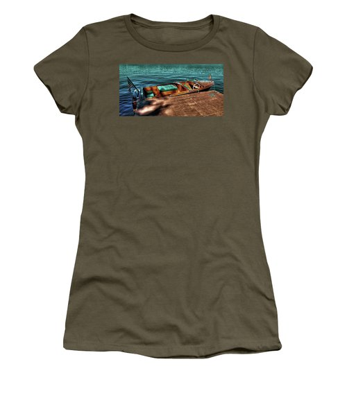 The Chris Craft Continental - 1958 Women's T-Shirt (Junior Cut) by David Patterson
