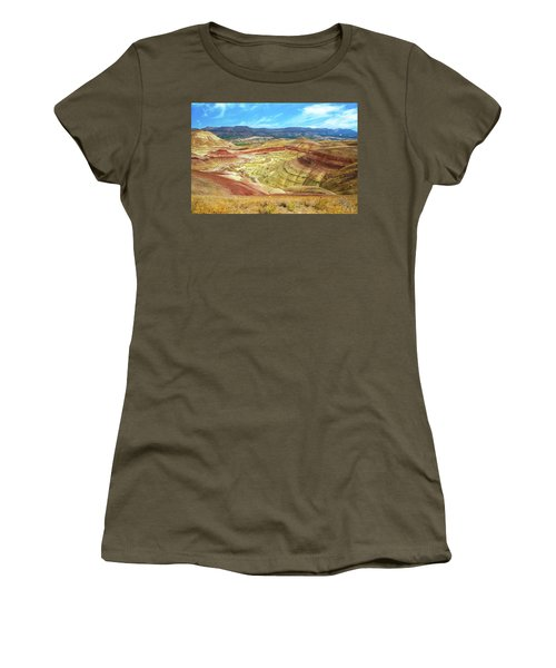The Colorful Painted Hills In Eastern Oregon Women's T-Shirt (Athletic Fit)